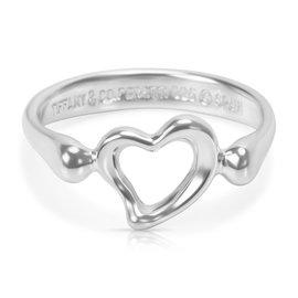 Tiffany & Co. Elsa Peretti Sterling Silver Open Heart Ring Size 5.25