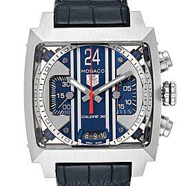 Tag Heuer Monaco 24 Steve McQueen Chronograph Watch CAL5111 Box Card