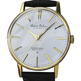 Citizen Deluxe EE36 Gold Plated with Leather Vintage 35mm Mens Watch