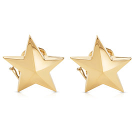 Tiffany & Co. Angela Cummings 18K Yellow Gold Star Earrings