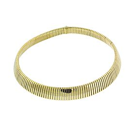 Bulgari Bvlgari Tubogas 18K Yellow Gold & Stainless Steel Necklace
