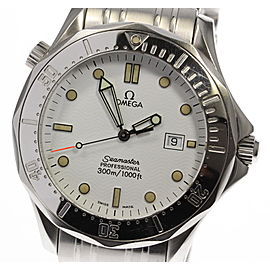 Omega Seamaster 2542.20 Stainless Steel with White Dial Quartz 41mm Mens Watch