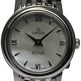 Omega DeVille 424.10.24.60.05.001 Stainless Steel with Shell Dial Quartz 24mm Womens Watch