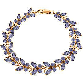 14K Solid Rose Gold Butterfly Bracelet with Tanzanites