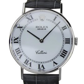 Rolex Cellini 3833 18K White Gold 31mm Mens Watch 1971