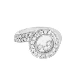 Chopard 18K White Gold 1.04ct Diamond Ring Size 5.75