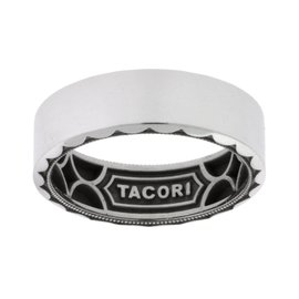 Tacori 18K White Gold Sculpted Crescent Wedding Band Ring Size 10.25