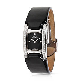 Ebel Beluga 9057A28-10 Stainless Steel / Leather with Diamonds Quartz 19mm Womens Watch