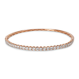 14K Rose Gold 2.50ct Diamond Hinged Bangle