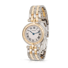 Cartier Panthere VLC 1057920 Stainless Steel & 18K Yellow Gold 23mm Womens Watch