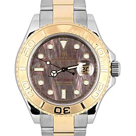 Rolex Yacht-Master 16623 18K Yellow Gold and Stainless Steel Tahitian Mother of Pearl 40mm Mens Watch