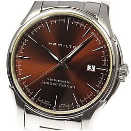 Hamilton Viewmatic Stainless Steel Mens Watch Dial Size 17