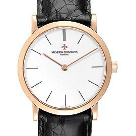 Vacheron Constantin Patrimony 18K Rose Gold Ultra Thin Mens Watch 33093
