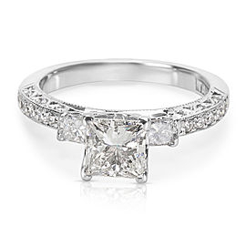 Tacori 18K White Gold & 1.02ct Princess Cut Diamond Engagement Ring Size 6.25