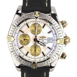 Breitling Chronomat Evolution B13356 18K Yellow Gold & Stainless Steel 44mm Mens Watch