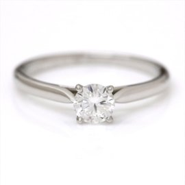 Cartier Platinum with 0.35ct Solitaire Diamond Ring Size 4.75