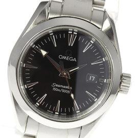 Omega Seamaster Aqua Terra 2577.50 Stainless Steel 29mm Quartz Women Watch