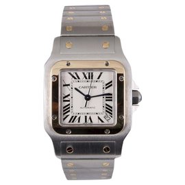 Cartier Santos Galbée 2823 Two Tone 18K Gold & Stainless Steel Automatic 32mm Mens Watch