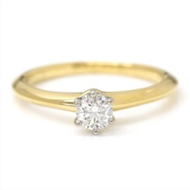 Tiffany & Co. 18K Yellow Gold with 0.31ct. Diamond Ring Size 7