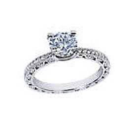 Tacori Platinum Engagement Ring