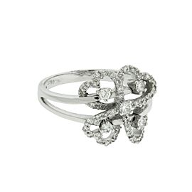 Giorgio Visconti 18K White Gold Diamond Ring Size 6.75
