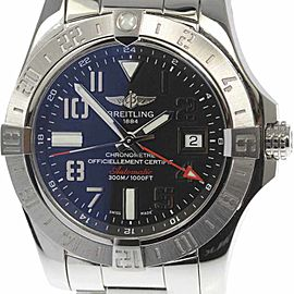 Breitling Avenger Ⅱ GMT A32390 Stainless Steel Black Dial Automatic 43mm Men's Watch