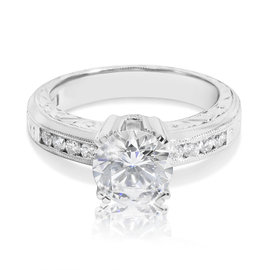 Tacori PT950 Platinum with 1.56ctw Diamond Engagement Ring Size 6.5