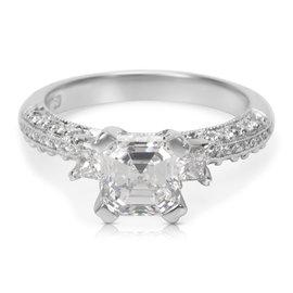 Tacori Platinum with 1.93ct. Diamond Engagement Ring Size 6.5