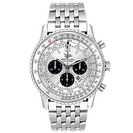 Breitling Navitimer 50th Anniversary Silver Dial Mens Watch A41322
