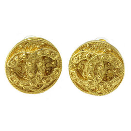 Chanel Gold Tone Hardware Coco-Mark Vintage Earrings