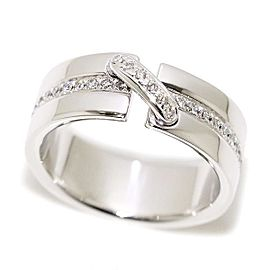 Chaumet Liens 18K White Gold with Diamond Ring Size 5