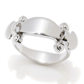 Louis Vuitton 18K White Gold Stand By Me Ring Size 5