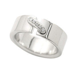 Chaumet Liens 18K White Gold with Diamond Ring Size 4.5