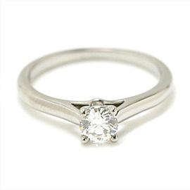 Cartier Platinum with 0.30ct Solitaire Diamond Ring Size 4