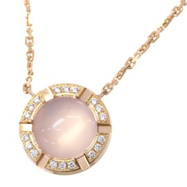Chaumet 18K Pink Gold with Class One Croisiere Quartz and Diamond Necklace