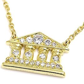 Christian Dior 18K Yellow Gold with Diamond Pendant Necklace