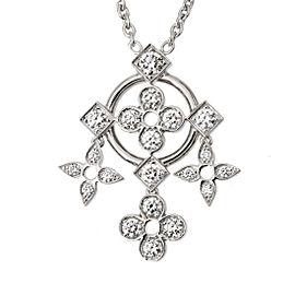 Louis Vuitton Dentelle De 18K White Gold and Diamond Pendant Necklace