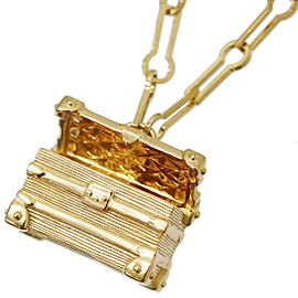 Louis Vuitton 18K Yellow Gold Petite Malle Necklace