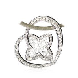 Louis Vuitton 18K White Gold and Diamond Pendant Necklace