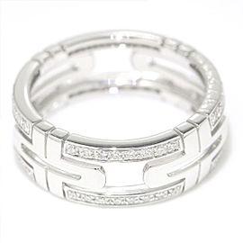 Bulgari Parentesi 18K White Gold with Diamond Ring Size 8.75