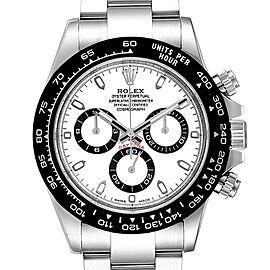 Rolex Daytona Ceramic Bezel White Dial Chronograph Mens Watch 116500