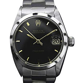 Rolex Oysterdate Precision 6466 Vintage 30mm Mens Watch