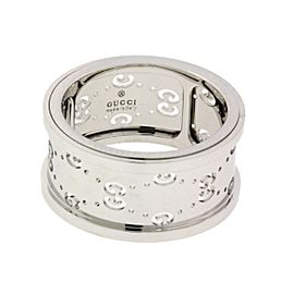 Gucci 18K White Gold Ring Size 13