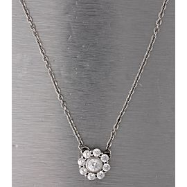 """Judith Ripka 925 Sterling Silver Round CZ 20.00"""" Necklace"""