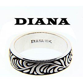 18K White Gold Wedding Ring Size 10