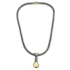 John Hardy Sterling Silver Citrine Necklace