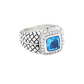 Scott Kay Sterling Silver Diamond, Topaz Ring