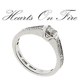 Hearts On Fire Platinum Diamond Engagement Ring Size 6.5