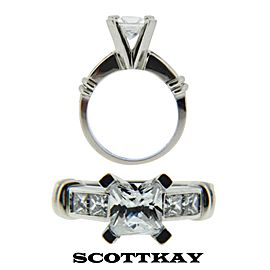 Scott Kay Platinum Diamond Engagement Ring