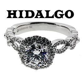 Hidalgo 18K White Gold Diamond Engagement Ring